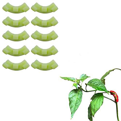 GUANJIAN Dobladoras De Plantas De Entrenamiento De 90 Grados, Kit De ManipulacióN De Crecimiento De Plantas Fijador De Plantas De Bajo Entrenamiento (10 Piezas) Verde