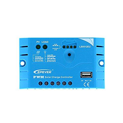 Solar Laderegler EP-Solar LS0512EU 5A mit 5V USB Anschluss