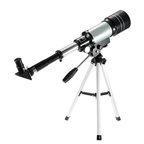 JANEFLY Astronomie Telescoop, 50mm 90X Enkele Cilinder Telescoop, 360° Verticale Rotatie met Statief Outdoor Toerisme voor Kinderen en Astronomie Beginners