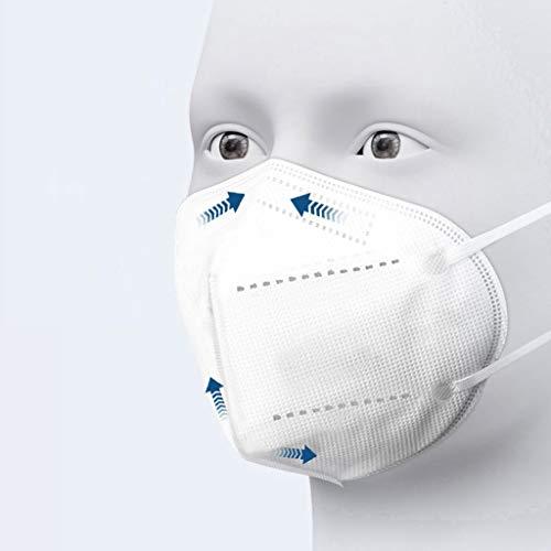 50Pcs Disposаble_N95_Face Mẵsk FDẴ Certified Coronàvịrụs Protectịon Adult's 5-Ply Filtеr Fàce Màsk_KF94 - Efficiency≥95% - 180 ° Non-woven Fabric,etc