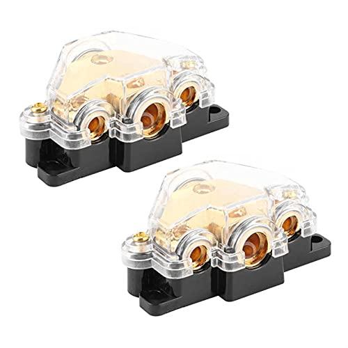 WUYANZI WYZ Bomba de Agua Bomba de oxígeno Bloque de distribución de energía 1 en 3 Maneras Amplificador de Audio Cable Splitter Protector de Circuito para automóviles automáticos
