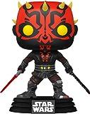 ¡MÚSICA Pop! Star Wars: Clone Wars 450 - Figura de Vinilo de Darth Maul con Darksaber