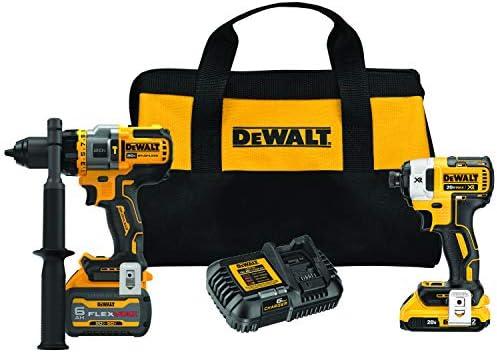 DEWALT FLEXVOLT ADVANTAGE 20V MAX Combo Kit with Hammer Drill Impact Driver 6 0 Ah 2 Tool DCK2100D1T1 product image