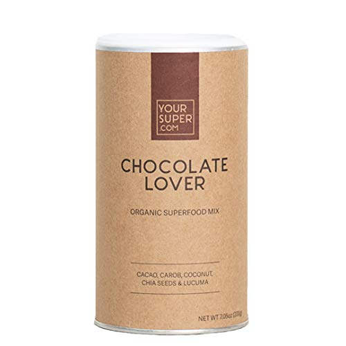 Your Super Chocolate Lover Superfood Mix - Plant Based Mood Enhancement Powder, Reduce Sugar Cravings, Essential Vitamins, Antioxidants, Non-GMO, Organic Cacao, Chia Seeds - 7.05 Ounces, 20 Servings