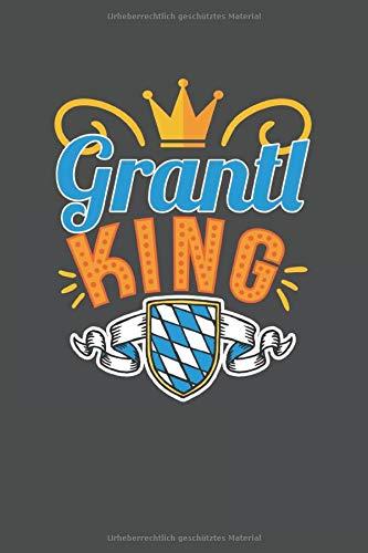 Grantl King: Punktiertes Notizbuch mit 120 Seiten zum festhalten für Eintragungen aller Art