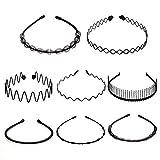 YMHPRIDE 8 piezas Spring Multi-style Wave Headband Hair Hoop