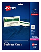 Laser Business Cards, 2 x 3 1/2, Ivory, 10 Cards/Sheet, 250/Pack (並行輸入品)