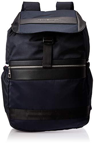 Tommy Hilfiger - Nylon Mix Flap Backpack, Carteras Hombre,