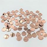 Espejo de mosaico redondo de 3/8 pulgadas de oro rosa pequeño espejo artesanal círculos a granel...