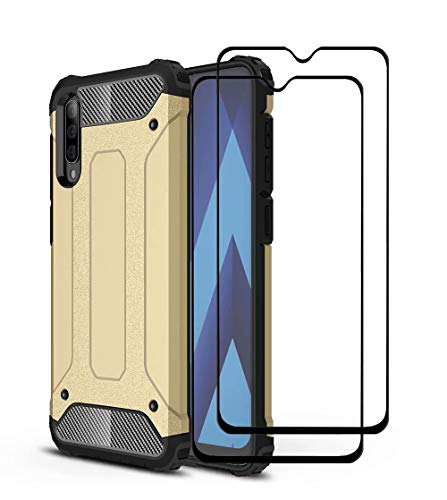 NOKOER Funda para Xiaomi Mi Mix 4, [2 in 1] Prueba de Polvo Case + Cristal Templado, TPU+PC Material Cover A Prueba de Golpes Telefono Movil Funda [Huella Digital Anti] - Dorado