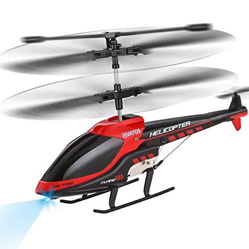 VATOS RC Helikopter RC Hubschrauber Fernbedienung Hubschrauber Kinder Indoor 3.5 Kanäle Hobby Mini Flughubschrauber RC Flugzeug Spielzeug Geschenk für Kinder