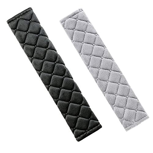 2 Piezas Cojín Protector Cinturon Coche Suave Y Cómoda, Almohadillas para Cinturón de Seguridad Negro, Fundas para Cinturón de Seguridad para Adultos y Niños para Cinturón de Seguridad, Mochila
