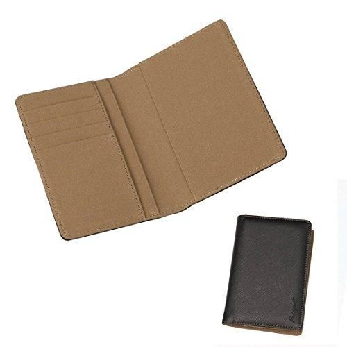 EPA01A08 Marrone Nero cuoio sintetico Xmas Gift Ideas Portafoglio Viaggi Ideale per Avvocati passaporto raccoglitore / cassa per il papš€ By Epoint
