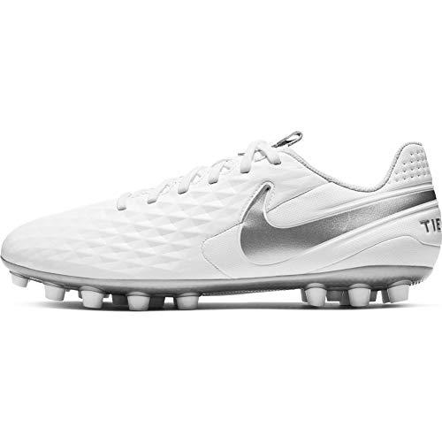 Nike Unisex-Erwachsene Tiempo Legend 8 Academy Ag Fußballschuhe, Weiß (White/Chrome-Pure Platinum 100), 40 EU