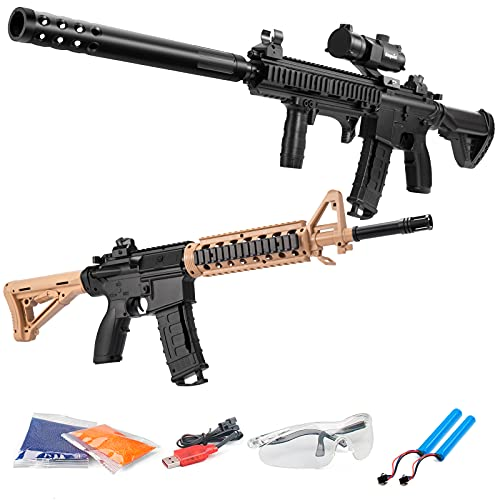 Gel Ball Blaster with Goggles&20000 Water Bead,2 in 1 Electric Gel Gun Blaster for Outdoor Backyard...