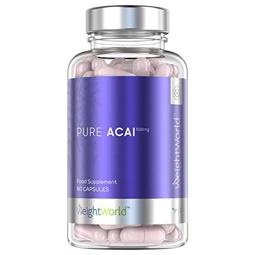 Acai Kapseln - Hochdosiertes Acai Beeren Pulver - Natürliche Slimberry ohne Zusätze - Superfood reich an Antioxidantien - Vegane Kapseln