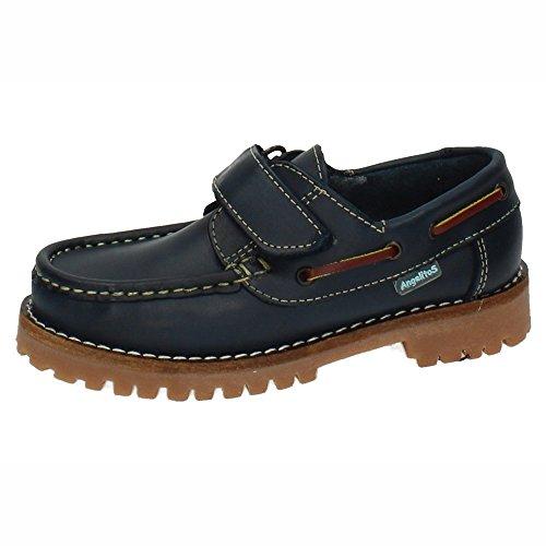 ANGELITOS 804 Zapatos NAÚTICOS NIÑO Zapatos MOCASÍN Azul Marino 36