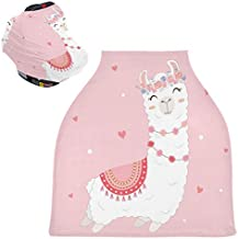 Cute Llama Baby Car Seat Covers - Stroller Cover Shopping Cart Cover, Multi-use Carseat Canopy, for Boy