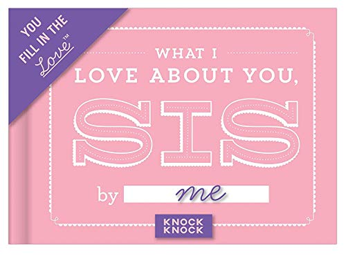Knock Knock What I Love about You, Sister Fill in the Love Book Fill-in-the-Blank Gift Journal, 4.5 x 3.25-inches Photo #4