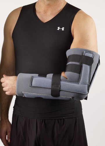 Corflex Elbow Immobilizer Brace - Elbow Fracture Splint-L/XL - Charcoal