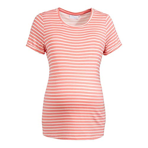 2HEARTS Umstands- und Still-T-Shirt T-Shirt de Grossesse T-Shirt de Grossesse, Strawberry Ice/Blanc