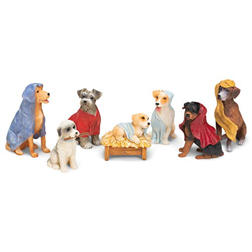 Christmas dog nativity set
