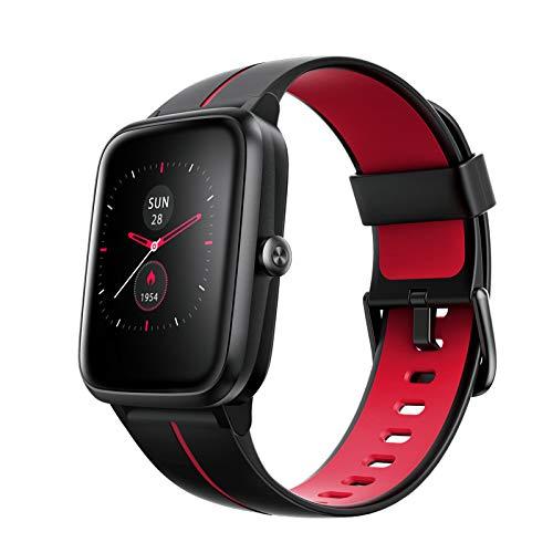 MUXIN Smartwatch Damen Herren GPS Fitness Armbanduhr 1.3'' Voll Touchscreen 5ATM Wasserdicht Fitness Tracker mit 14 Sport modi Schrittzähler Kalorienzähler Aktivitätstracker DIY Hintergrund,A