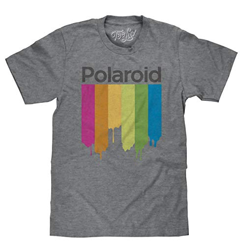 Plus Size Distressed Polaroid Camera Dripping Logo T-Shirt, XL, 2XL, 3XL