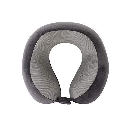 Alvnd Tragbare Reisekissen Memory Foam Nackenkissen Unterstützung Kopf und Kinn Flugzeug Geschäftsreise-Kissen, ergonomisches Design, Pillowcase waschbar (Color : Black, Size : 25 * 26 * 12 cm)