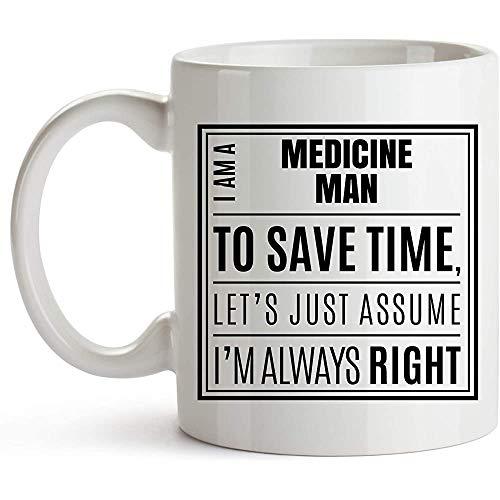 Soy un curandero. Solo asuma que siempre tengo razón - Taza de café - Chamán, sanador, médico brujo refranes de cerámica