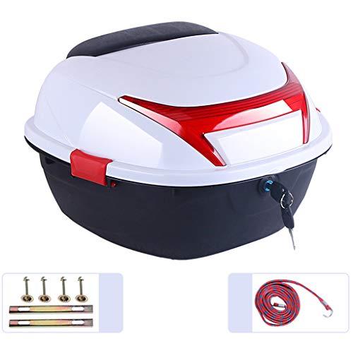YZJJ Universal baúl de Moto, Caja de Viaje para Motocicleta, Maletero, Equipaje, Bloqueo Superior, Caja de Transporte - Puede almacenar Casco - 16.6 x 14.8 x 11 Pulgadas