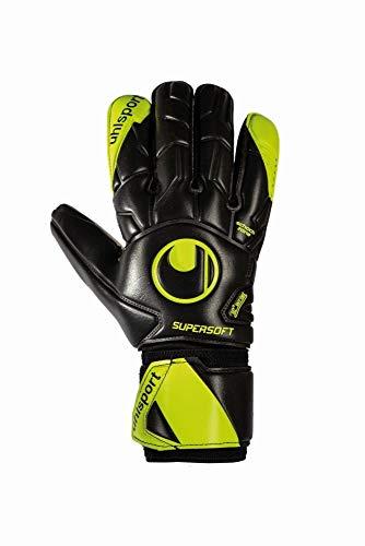 uhlsport - Fußball-Spielerhandschuhe für Jungen in schwarz/fluo gelb, Größe 10.5