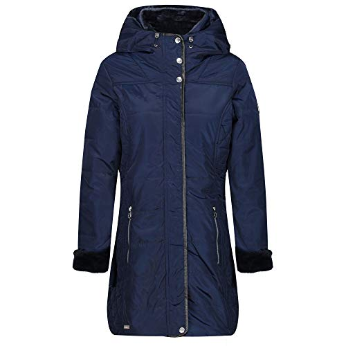 Regatta Damen Patchouli Wasserabweisend & Thermoschutz Isoliert Kunstfell & Kunstleder Trim Mode Kapuze Winterjacke Baffled/Quilted 44 navy