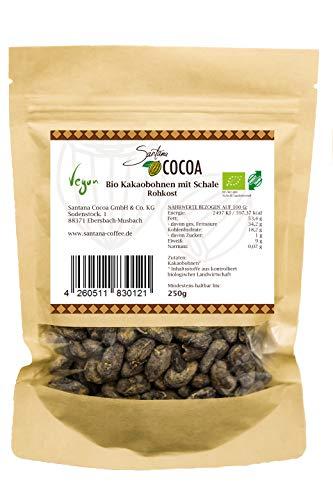 SANTANA Bio Rohe Kakaobohnen | 100 % Vegan | Superfood | Direkt Trade Von Der Familie Santana | 250g