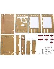 """Pumprout Carcasa de caja acrílica portátil para DSO138 Kit de osciloscopio de transistor de película fina de 2,4""""DIY que hace la herramienta de diagnóstico electrónico"""