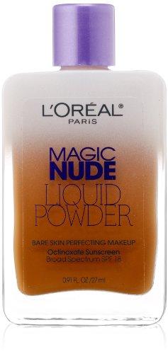L'Oreal Paris Magic Nude Liquid Powder Bare Skin Perfecting Makeup SPF 18, Soft Sable, 0.91...