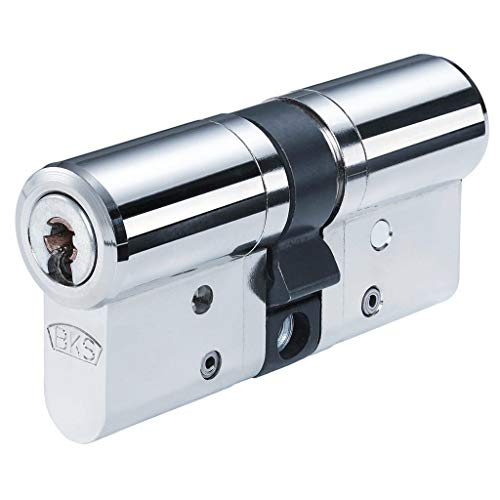 BKS Janus 46 Doppelzylinder mit 3 Wendeschlüssel + Sicherungskarte, Hochsicherheits-Zylinderschloss, inkl. Not- und Gefahrenfunktion, Türschloss, Länge A:27 mm I:31 mm