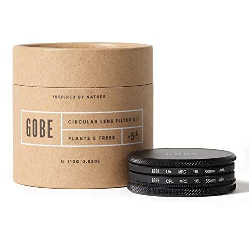 Gobe - Kit filtro UV + filtro polarizzatore circolare (CPL) per obiettivi 58 mm (3Peak)