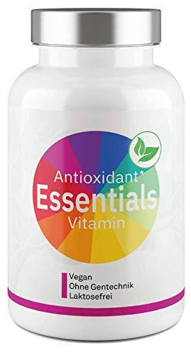 Antioxidant Essentials I Premium Antioxidantien Vitamin-Komplex I Vitamine mit OPC, Transresveratrol, Astaxanthin, CoenzymQ10, Superfruits & Citrusbioflavonoide - 80 Kapseln von Valuelife