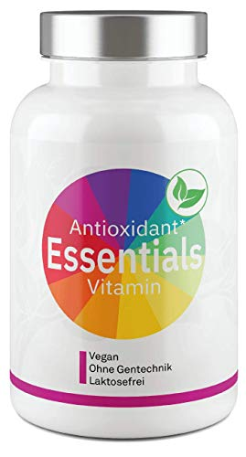 Antioxidant Essentials I Premium Antioxidantien Vitamin-Komplex I Vitamine mit OPC, Transresveratrol, Astaxanthin, CoenzymQ10, Superfruits & Citrusbioflavonoide - 80 Kapseln...