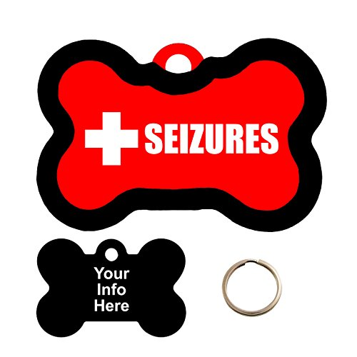 Customized Medical Alert SEIZURES Pet Tag - Bone Shape Dog Tag