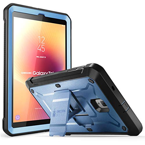 SUPCASE Unicorn Beetle Pro Series Case Designed for Samsung Galaxy Tab A 8.0 SM-T387 (2018), with Built-in Screen Protector & Kickstand Full-Body Rugged Hybrid Protective Case (Slate Blue)