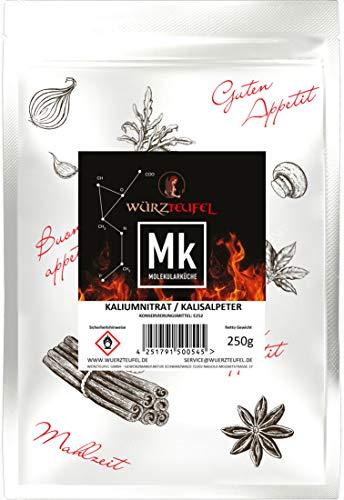 Salpeter, Kaliumnitrat, Kalisalpeter Bengalsalpeter, KNO3 in Lebensmittelqualität, rein, ohne Rieselhilfe – Hergestellt in Deutschland. Beutel 250g.