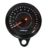Motorrad Drehzahlmesser 0-13000 U/min LED Hintergrundbeleuchtung Elektronische Drehzahlmesser Manometer für DC 12 V Motorrad