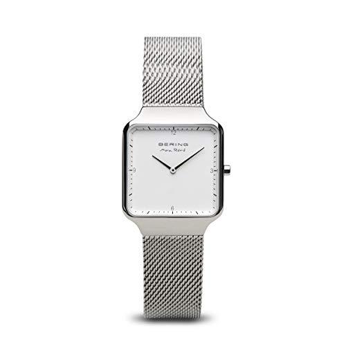 BERING Damen Analog Quarz Uhr mit Edelstahl Armband 15832-004