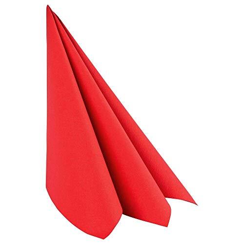 1-PACK Servietten Airlaid 40x40cm 1/4 -Falz stoffähnlich, hochwertig rot, 50 Stück