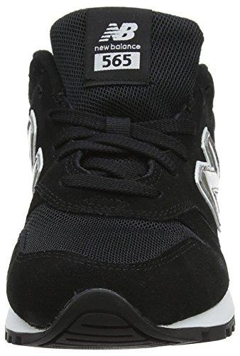 New Balance 565 Sneakers, Zapatillas Mujer, Negro (Black/Silver), 41 EU