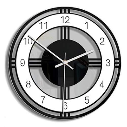 Ayanx Silent Grote Wandklok Modern Design Batterij-aangedreven Quartz Hangklokken Woondecoratie Keukenhorloge Zwart/Wit