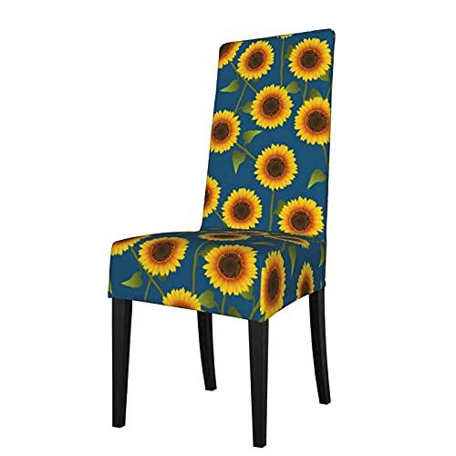Funda de Asiento para Silla Girasol Amarillo Fundas para sillas de Comedor Fundas elásticas Protector de Silla Lavable