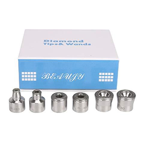FRCOLOR Puntas de Reemplazo de Dermoabrasión Herramienta de Exfoliante de Piel de Microdermabrasión de Diamante Metálico para Máquina de Belleza de Salón de Cuidado de Piel Facial